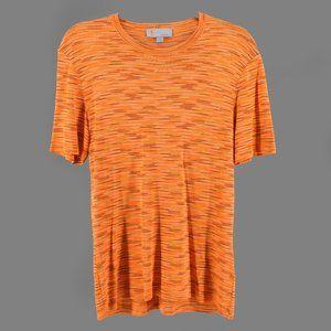 Missoni Orange Multicolored Stripe Top